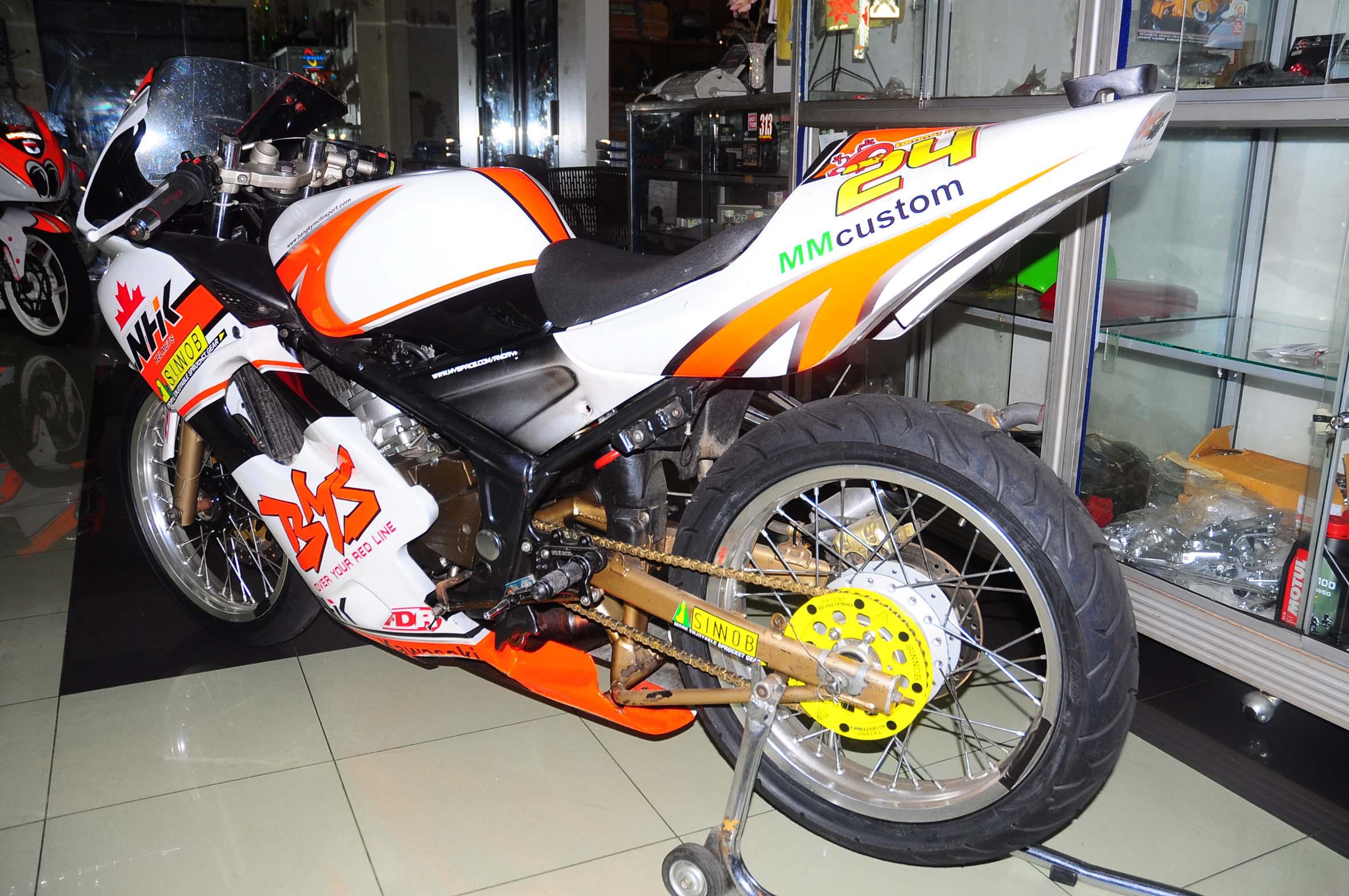 modifikasi motor ninja 150 rr  tahun ini