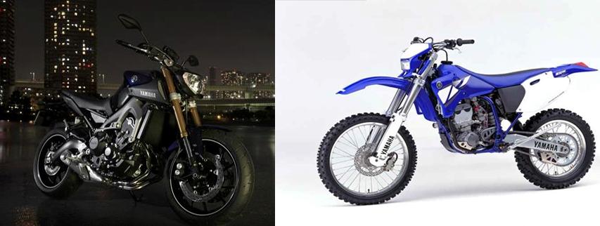 Yamaha MT-09 dan WR250R
