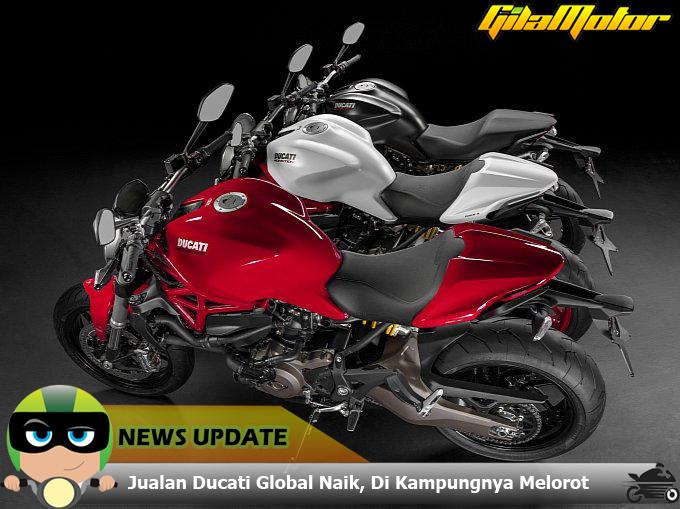 Ducati alam peningkatan penjualan sepanjang tahun 2014.