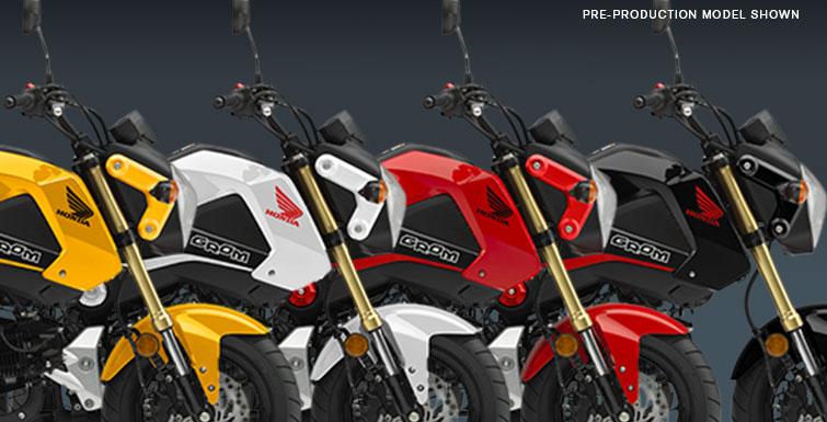 Honda menghadirkan empat warna baru Grom 2015