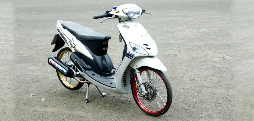 referensi modifikasi mio sporty warna putih