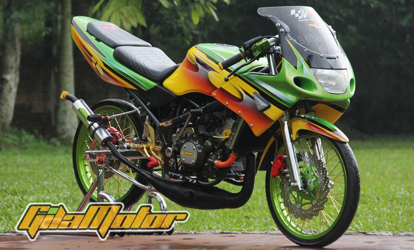 modifikasi motor ninja rr 2010  tahun ini