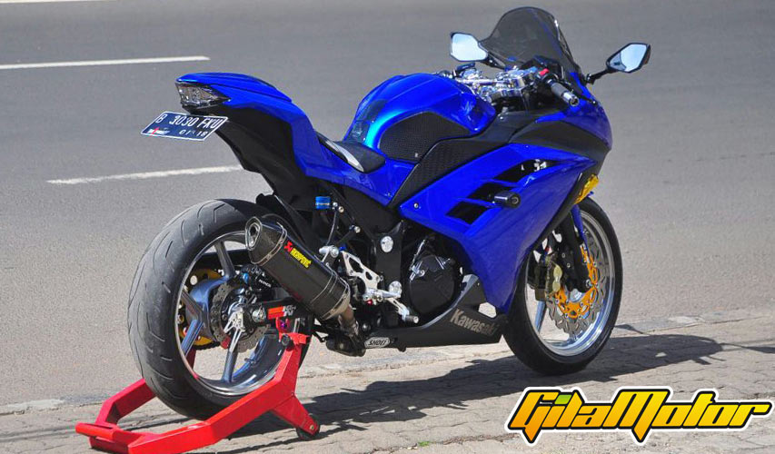 contoh modifikasi ninja 250 fi grey