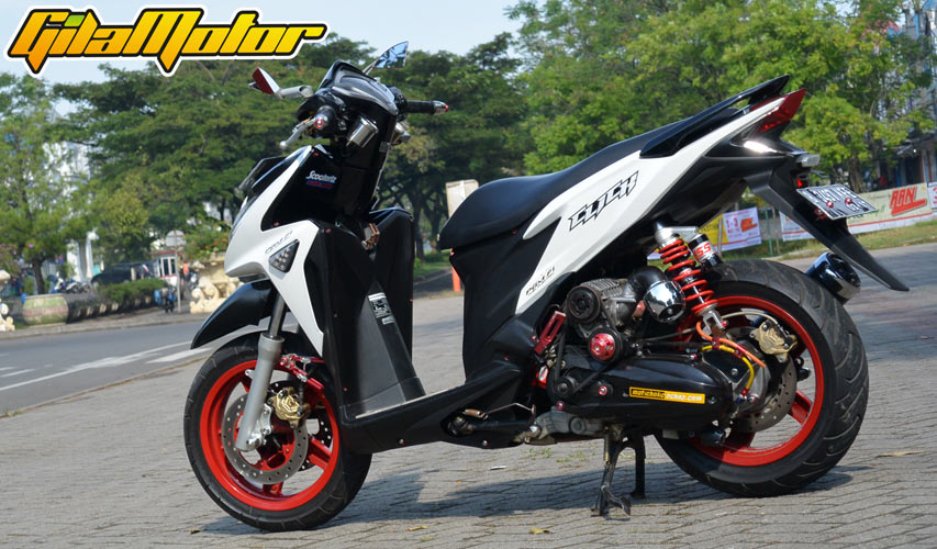 Modifikasi Honda Vario 125 Fi 2012, Kombinasi Supercharger
