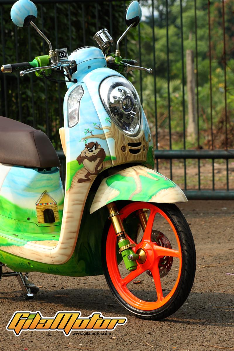 Honda Scoopy 2013 Pilih Baju Tazmanian Devil Biar Cute Gilamotor