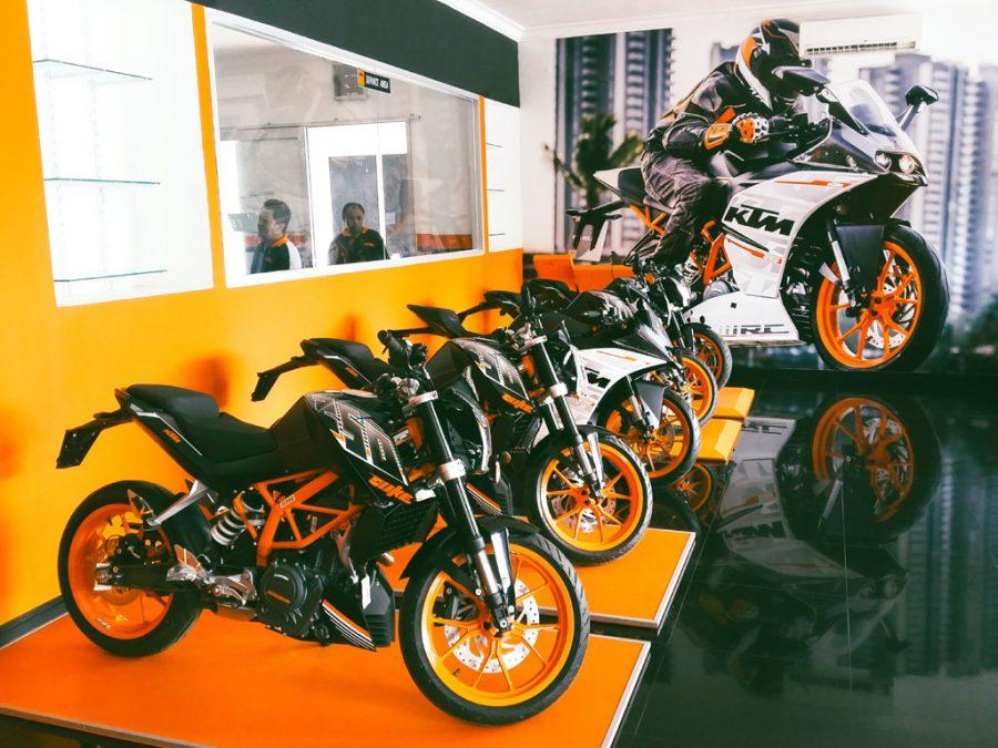 Dealer KTM Indonesia yang berlokasi di bilangan Sunter, Jakarta Utara.