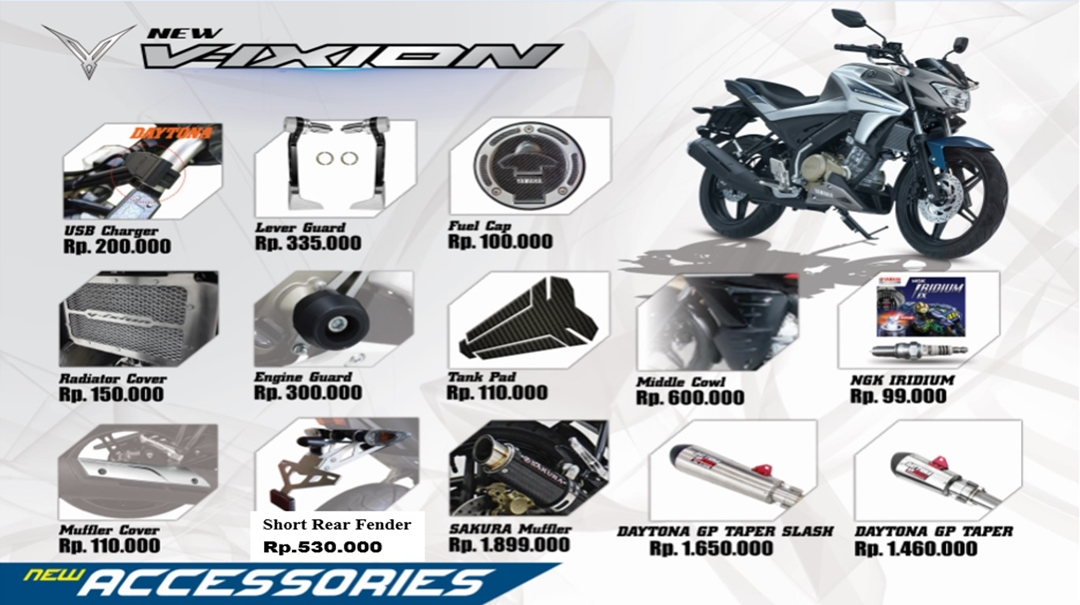 Asesoris All New Vixion
