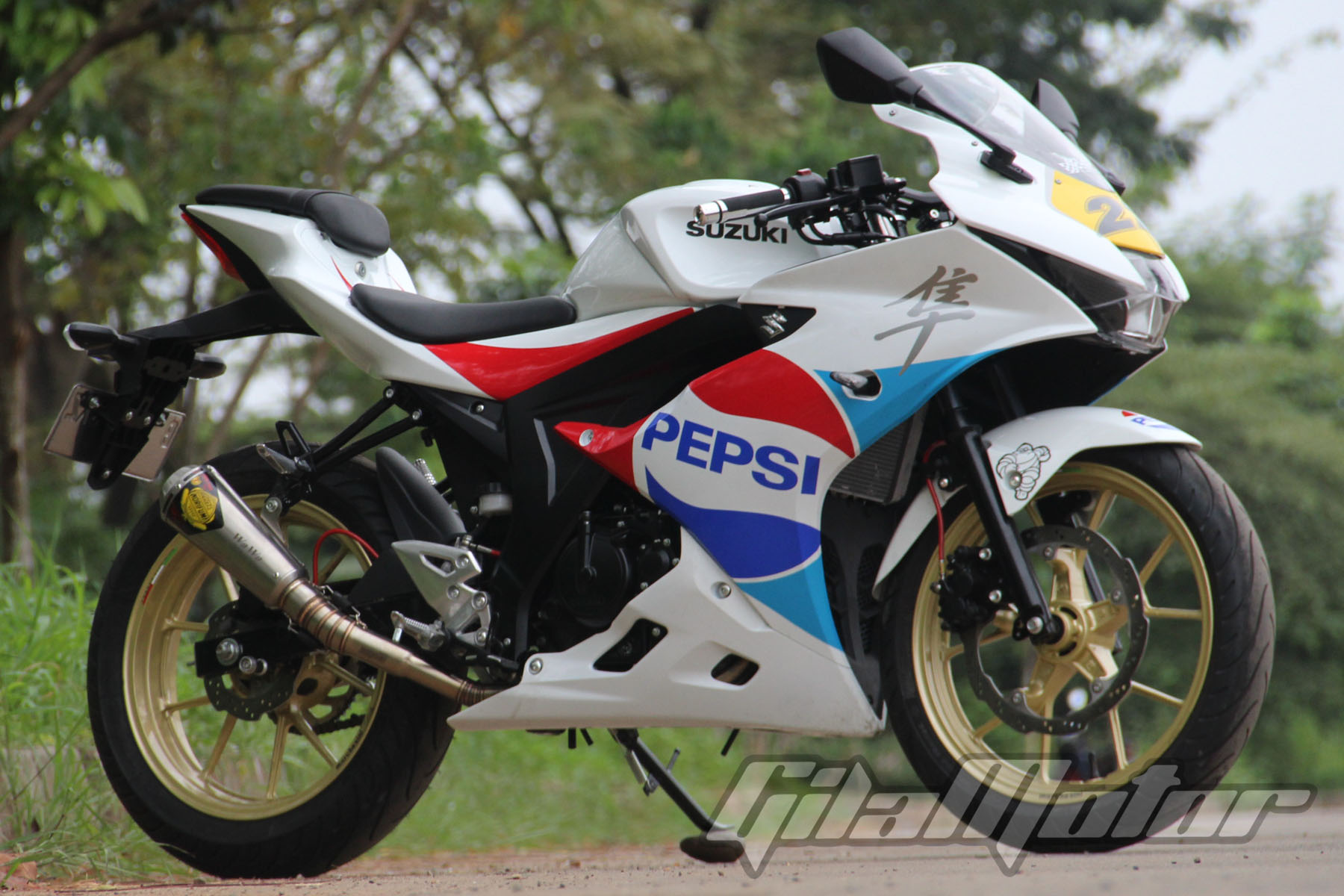 Modifikasi Suzuki Gsx R150 Edisi Khusus Gilamotor