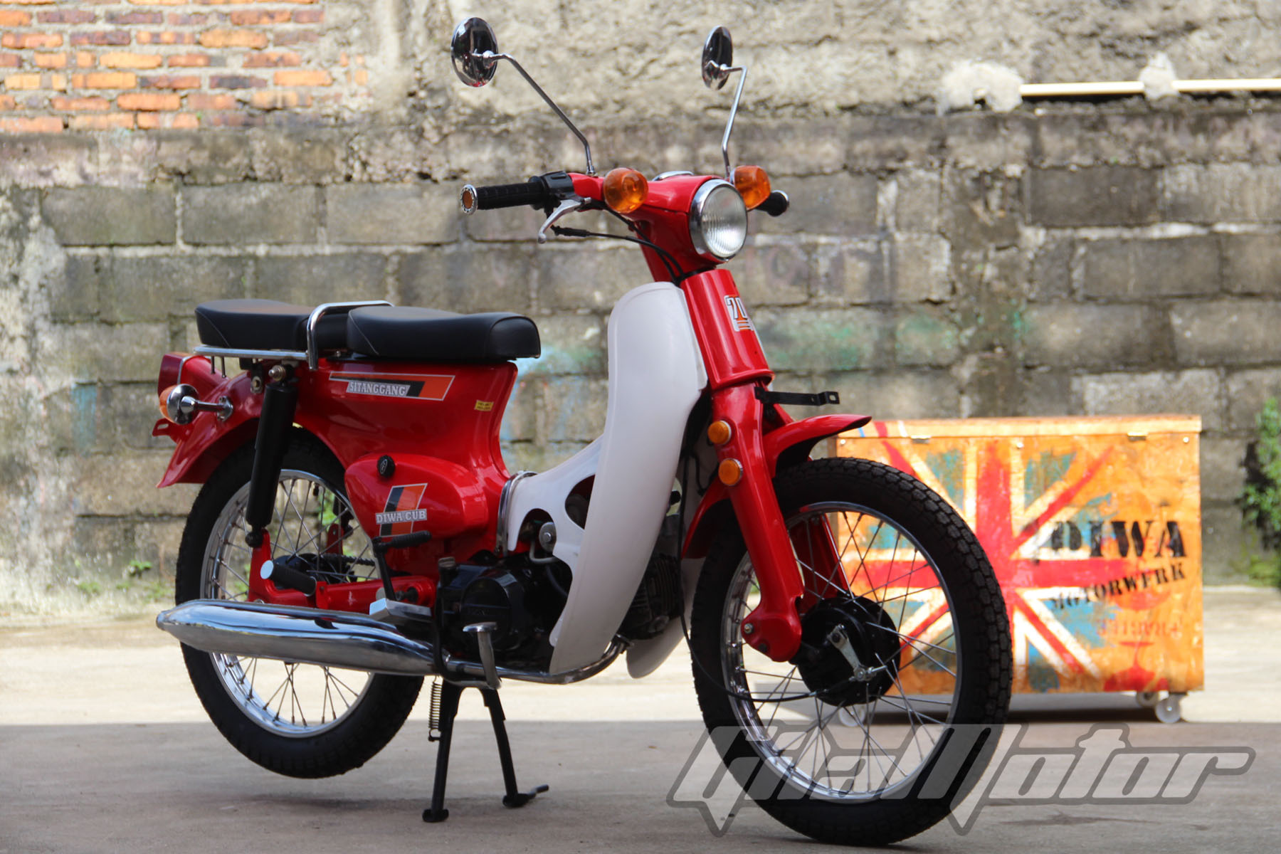 Modifikasi Honda Astrea Grand Jadi Makin Tua Gilamotor