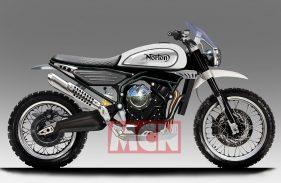 Ilustrasi Motor Scrambler Norton