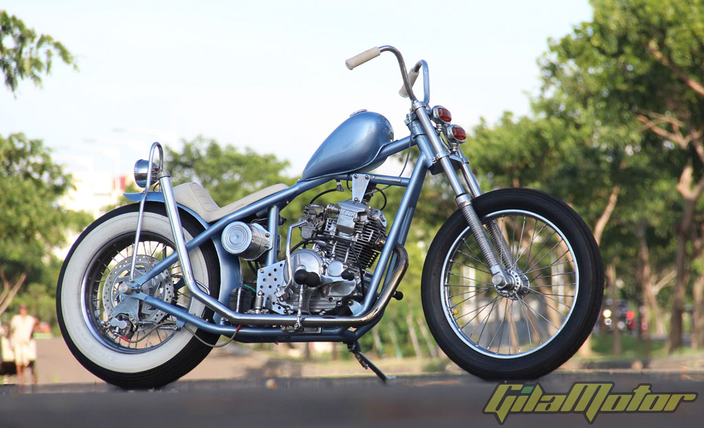 Modifikasi Yamaha Scorpio 2006 : Old School Chopper Never