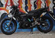 Modifikasi Suzuki Satria F150 Black Predator 7