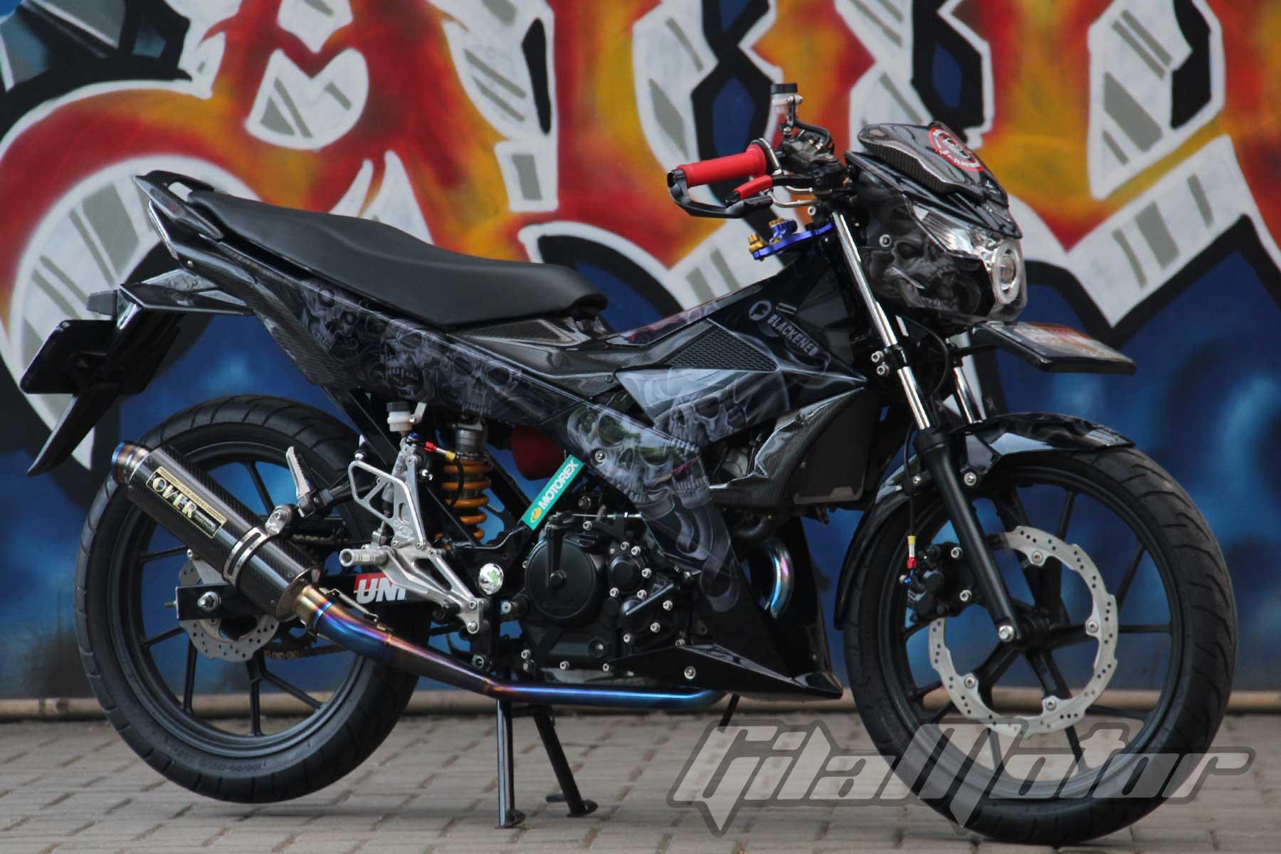 Modifikasi Suzuki Satria F150 Black Predator