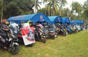Gathering Nasional ke-3 Yamaha Nmax Club Indonesia (YNCI) di Lombok Nusa Tenggara Barat (2)
