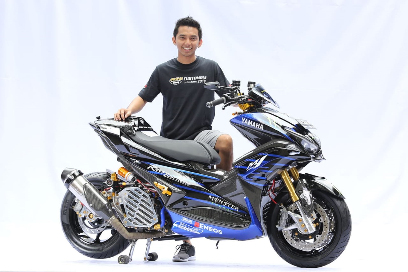 Modifikasi Yamaha Aerox 155 Menjadi  U0026quot King Of Maxi Series